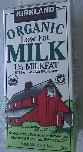 1% Organic milk from Costco