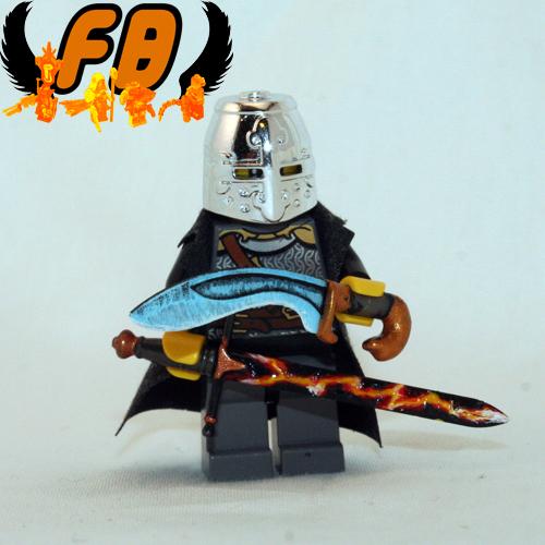 Custom minifig Ranger - Fire and Ice swords