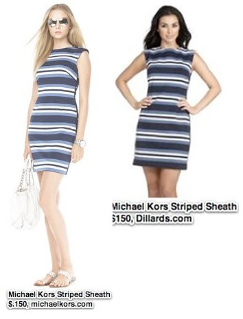 Michael Kors Striped Sheath