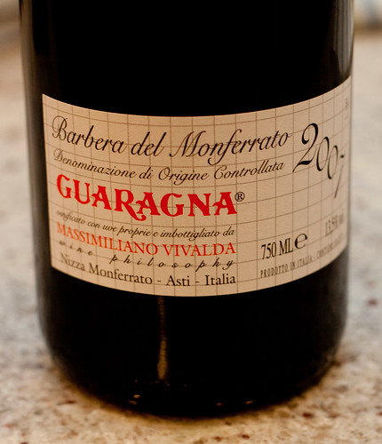 Barbera del Monferrato Guaragna 2007