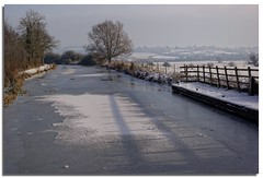 Frozen Kennet & Avon Seend Cleeve Christmas day (lovestruck.) Tags: uk trees england white ice water countryside canal frozen frost bank fields iced wiltshire seen towpath kennetavoncanal 2011 2919 winrer icedin seendcleeve christmas2011