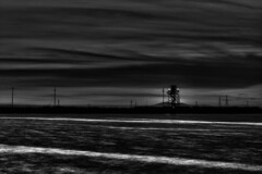 (Randolph Knackstedt) Tags: california santa clara white black water monochrome night contrast mono bay long exposure time area grayscale randolph monochromia knackstedt