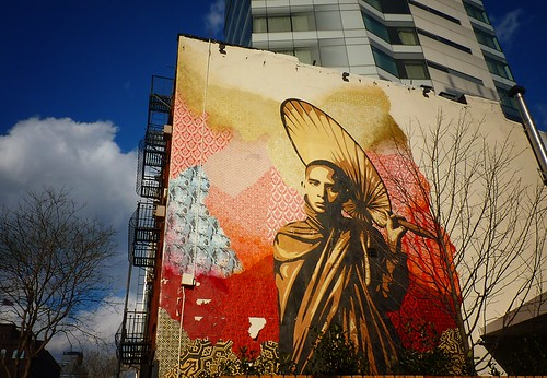 Shepard Fairey Mural, Cooper Square Hotel, East Village, New York City 875