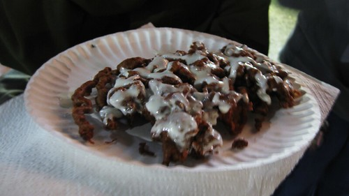 red velvet funnel cake