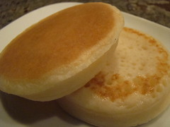 Vegan Crumpet (Vegan Feast Catering) Tags: english bread vegan ring treat yeast crumpet