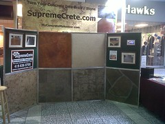 Decorative Concrete Flooring Booth - 2011 Defiance Northtowne Mall (Decorative Concrete Kingdom) Tags: ohio home mall fun mix expo health oh flooring defiance 981 decorativeconcrete northtowne