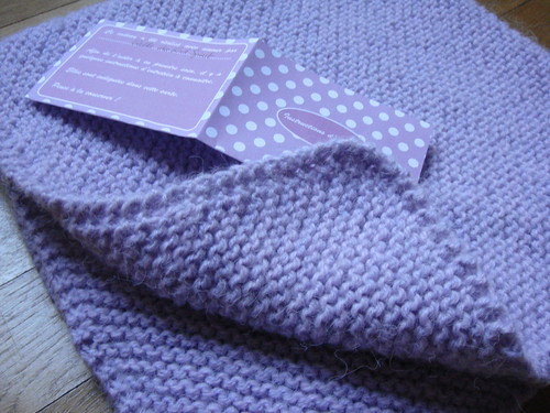 modele tricot couverture point mousse