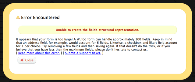 Unable to create structural representation