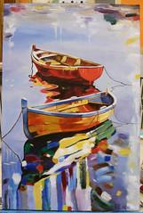 OPERE ALLIEVI (Laboratorio Artistico Mimina) Tags: pittura oliosutela barche corsodipitturaadolio painting oiloncanvas