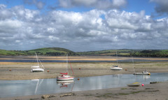 Low tide in the Camel estuary, North Cornwall (Baz Richardson (now away until 26 Oct)) Tags: cornwall rivercamel camelestuary yachts rivers sandbanks landscapes