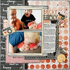 Lucky Lucky Girl (girl231t) Tags: 2017 scrapbook layout paper 12x12layout