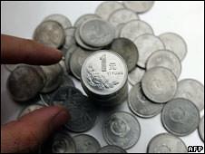 Chinesa Yuan coins
