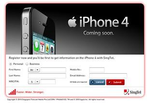 SingTel iPhone 4