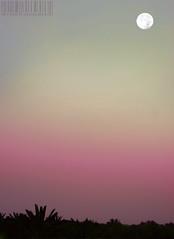 NiGhT MooN ~ (AL-FAHD) Tags: sunset sk