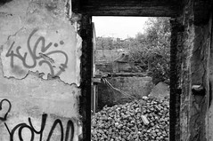 Decay (bm^) Tags: blackandwhite bw white streetart black industry graffiti nikon industrial belgium belgique zwartwit decay belgi westvlaanderen zwart wit industrie kortrijk courtrai verval industrieel d90 blackwhitephotos westernflanders nikond90bw mygearandmebronze