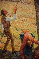 detail of Apple Picking at Eragny-sur-Epte (carmacke~) Tags: art french dallasmuseumofart pissarro camillepissarro frenchimpressionism applepickingateragnysurepte
