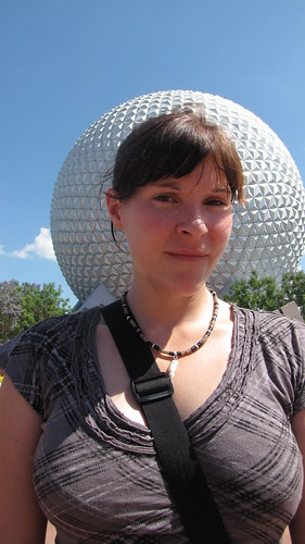 Becky at Epcot