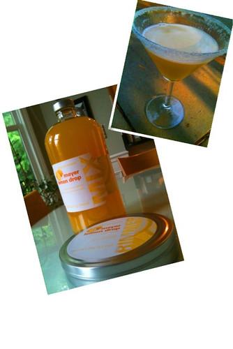 Lemon drop cocktail drink mix