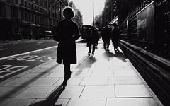 Life in the Fast Lane (Ian Brumpton) Tags: street uk england urban blackandwhite bw blancoynegro monochrome blackwhite noiretblanc candid highcontrast explore londres citystreets contrejour biancoenero dreamcatcher shadowlands sidewalkstories explored lifeinthefastlane londonstreetphotography lifeinslowmotion scattidistrada aimlessstrolling blackwhiteheartbeats