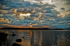 Midsummer's Eve (// Kjell) Tags: sunset sea water clouds reflections cloudysky pohjanmaa sigma30mmf14exdchsm sterbotten ostrobothnia oravainen oravais kvarken merenkurkku nikond40 karvat