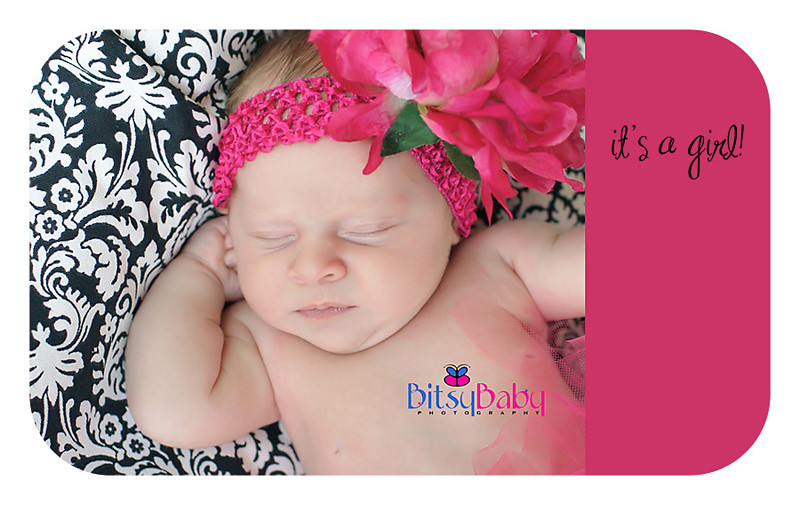 it's a girl {maryland baby photographer}