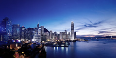 dusk (songallery) Tags: ocean blue sunset sea panorama skyline night digital skyscraper spectacular landscape hongkong harbor landscapes scenery cityscape central wide clarity grand scene clear explore glorious sight  brilliant   impressive magichour imposing victoriaharbour cambo      p45  phaseone digitalback explored 39megapixels highresolutions cambowideds