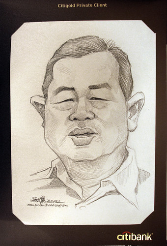 Portrait & caricature live sketching for Citigold Private Client 23 June 2010 - 8