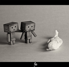 When You're Gone :( (Abdulkreem Al-delaigan | ) Tags: stilllive 2010 danbo canonef2470mmf28l blackwhitephotos canoneos50d danboard abdulkreemaldelaigan