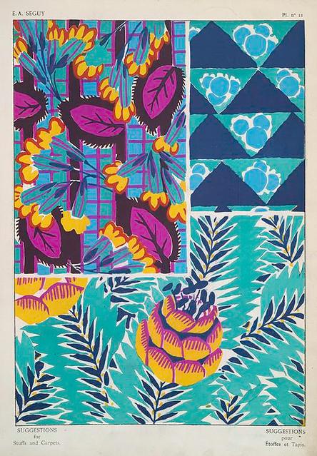032-Suggestions pour étoffes et tapis 60 motifs en couleur 1927- Eugene Alain Seguy