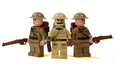 British Infantry (*Nobodycares*) Tags: infantry lego wwii tommy worldwarii ww2 soldiers guns british troops forces worldwar2 uas allied brodies tommies sheaths brickarms mmcb