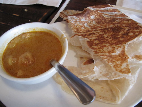 Penang, roti +chicken curry dip