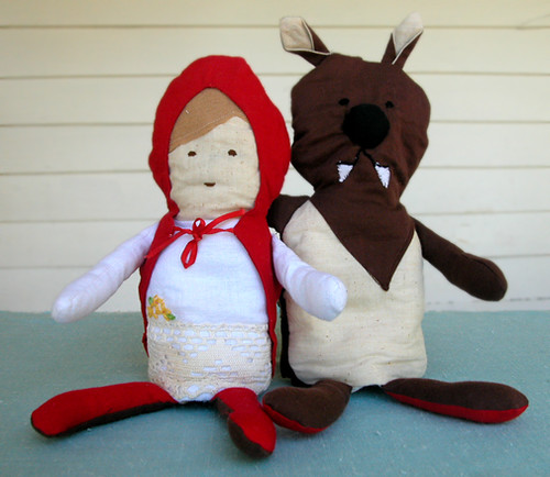 Little Red Riding Hood and the Big Bad Wolf flip doll