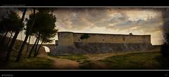Ruins of Chinchon's Castle (Panoramic) (Artigazo ) Tags: madrid espaa canon spain ruins espanha mess d