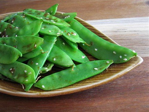 Snow Pea and Sesame Saute @ An Edible Mosaic