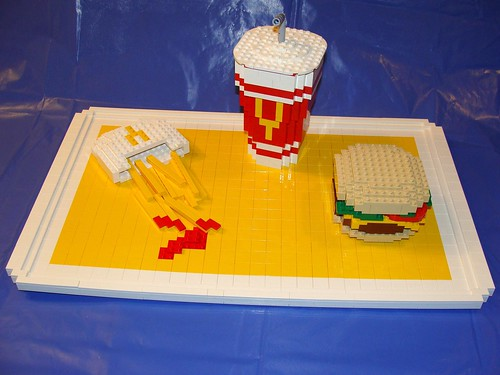 ELMHURST LEGO STORE BRAND RIBBON MODEL-FAST FOOD