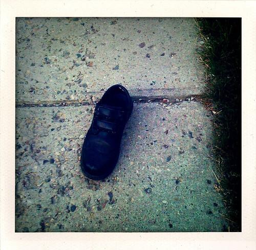 random lost shoe