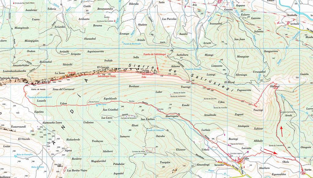 Mapa Satrústegui