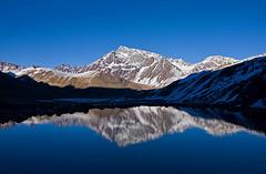 Amanecer en los Andes (ik_kil) Tags: chile reflection sunrise reflex amanecer reflejo andes cordilleradelosandes reginmetropolitana