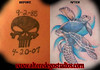 tattoo cover up skull to turtle tattoo cover up
