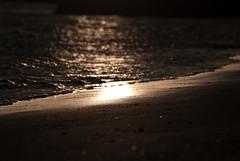 Wave & beach (Larsenio) Tags: ocean sea summer reflection nature norway landscape norge waves skies natur himmel midnightsun hav pentaxk10d
