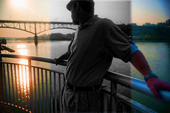 Not in the Zone (abennett23) Tags: portrait selfportrait reflection self sunrise river knoxville 365 unfocused tennesseeriver inthezone idiom 365days volunteerlanding americanidiom outofthezone