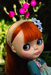 Lexia in the garden.