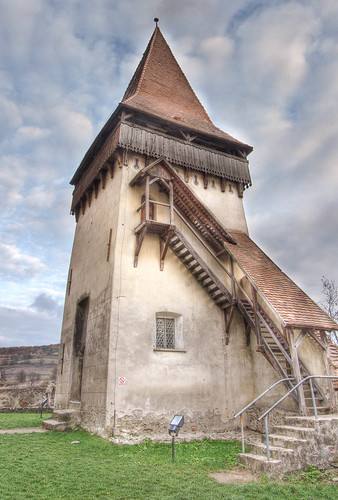 Side tower at the Saxon fortified church of Biertan