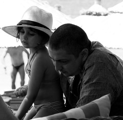 I'll have a go Dad, you've had too much tequila! (Nat Nunn) Tags: people blackandwhite mono candid tequila skiathos backgammon notevenpissedfromallthosetequilashots