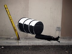United States of Petroleum (silverfuture) Tags: usa streetart unitedstates barrel oil theloop bp oilspill raynoland