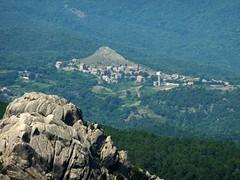Vue depuis le sommet de Punta di u Diamante : vers l'Est, Carbini