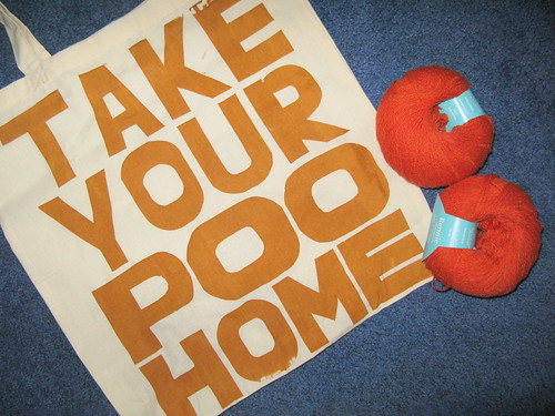 Poo Home! Plus yarn.