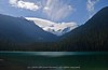 Glaciers beyond Lower Joffre Lake (Michael Garson) Tags: blue trees summer sky cloud mountain lake canada mountains hot tree green nature water clouds forest warm walk hike glacier glaciers