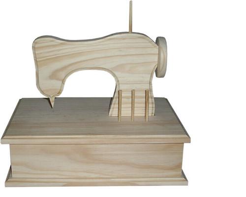 Caixa de costura com máquina