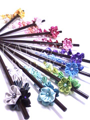 Talking about rainbow .... (Kanzashi.Boutique) Tags: flower cute fun japanese rainbow handmade traditional craft hobby fabric boutique accessories tsumami hairclip colourfull kanzashi